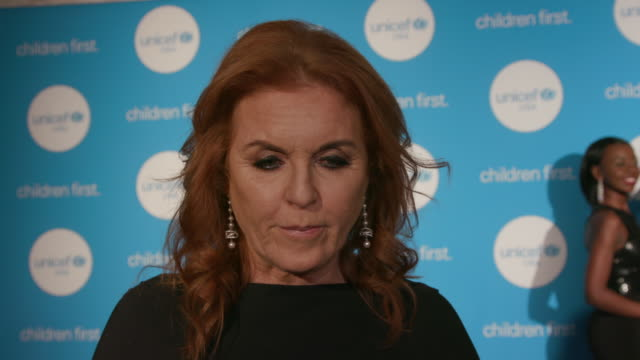 INTERVIEW Sarah Ferguson Duchess of York on philanthropy on being a long time supporter of UNICEF on being here tonight in Dallas at the 2nd Annual...
