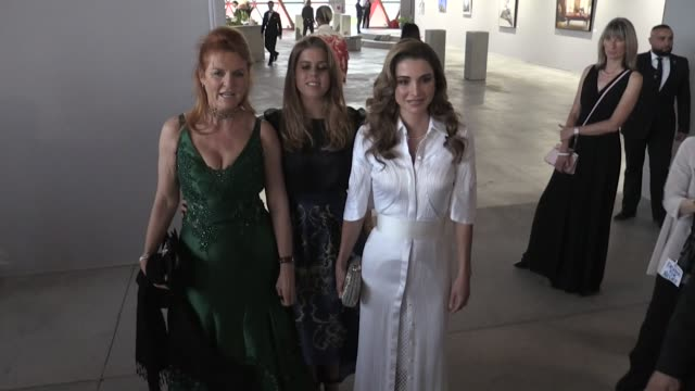 Sarah Ferguson Duchess of York Princess Beatrice of York and Queen Rania of Jordan front row of Fashion For Relief Front Row in Cannes Cannes France...