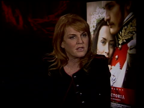 Sarah Ferguson on the experience of producing this film at the 'The Young Victoria' Junket at Los Angeles CA
