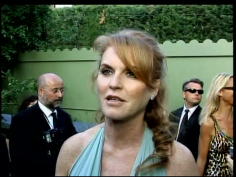 Sarah Ferguson on the funds raised by amfAR on her schools in Sierra Leone at the amfAR's Cinema Against AIDS in Cannes on May 25 2006