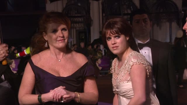 Sarah Ferguson Princess Eugenie and Princess Beatrice at the The Young Victoria World Premiere at London