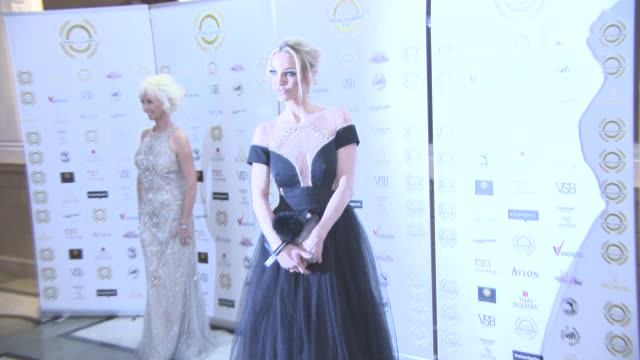 sarah harding at the 4th annual national film awards at porchester hall on march 28, 2018 in london, england. - ポーチェスター点の映像素材/bロール