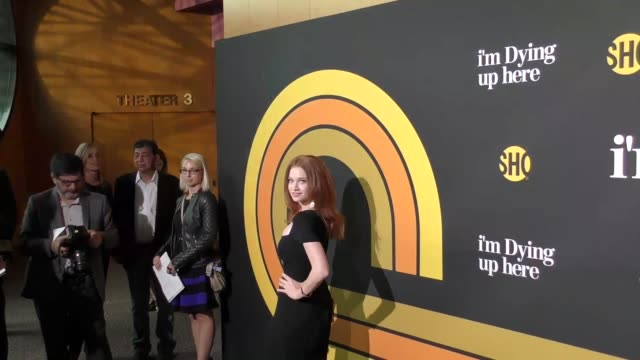 sarah hay at the premiere of showtime's 'i'm dying up here' - arrivals on may 31, 2017 in los angeles, california. - showtime video stock e b–roll