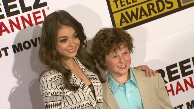 sarah hyland and nolan gould at the critics' choice television awards luncheon at beverly hills ca - sarah hyland stock videos and b-roll footage