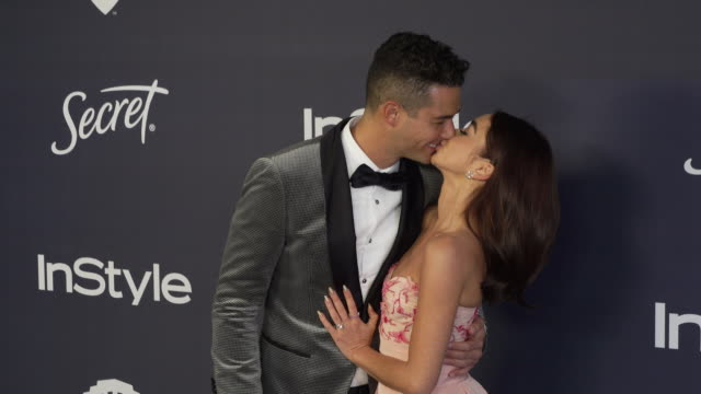 sarah hyland and wells adams at the warner bros and instyle host21st annual postgolden globes party at the beverly hilton hotel on january 05 2020 in... - warner bros stock videos & royalty-free footage