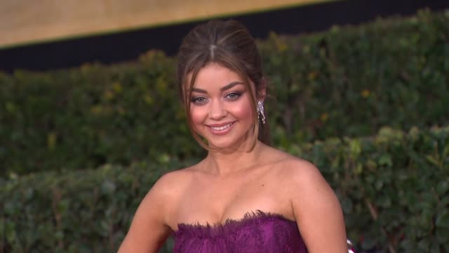 sarah hyland at 19th annual screen actors guild awards arrivals 1/27/2013 in los angeles ca - sarah hyland stock videos and b-roll footage