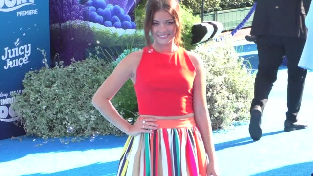 sarah hyland at finding dory premiere at el capitan theatre in hollywood at celebrity sightings in los angeles on june 08, 2016 in los angeles,... - el capitan theatre stock videos & royalty-free footage