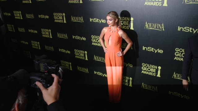 sarah hyland at hfpa and instyle celebrate the 2014 golden globe awards season at fig olive melrose place on november 20 2014 in west hollywood... - sarah hyland stock videos and b-roll footage