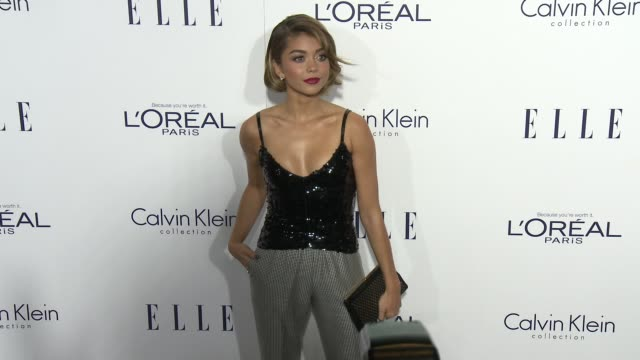 sarah hyland at the 2015 elle women in hollywood awards at four seasons hotel los angeles at beverly hills on october 19 2015 in los angeles... - sarah hyland stock videos and b-roll footage