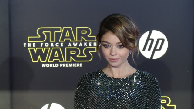 sarah hyland at the star wars the force awakens world premiere at tcl chinese theatre on december 14 2015 in hollywood california - sarah hyland stock videos and b-roll footage