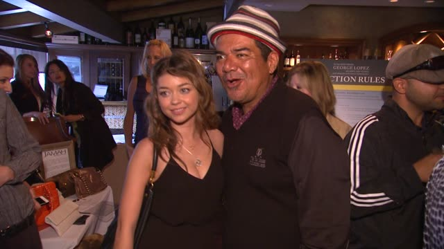 sarah hyland george lopez at 6th annual george lopez celebrity golf classic mercedesbenz dealer championship on 5/6/13 in los angeles ca - sarah hyland stock videos and b-roll footage