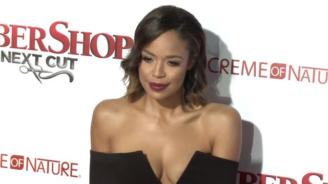 stockvideo's en b-roll-footage met sarah jane crawford at barbershop the next cut los angeles premiere at tcl chinese theatre on april 06 2016 in hollywood california - tcl chinese theatre