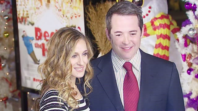 sarah jessica parker and matthew broderick at the 20th century fox's 'deck the halls' world premiere at grauman's chinese theatre in hollywood,... - 20th century fox stock videos & royalty-free footage