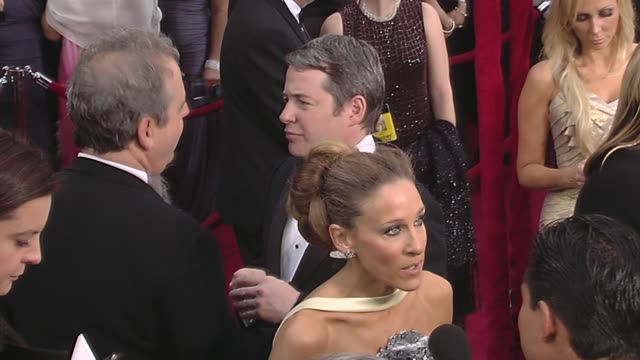 vidéos et rushes de sarah jessica parker and matthew broderick at the 82nd annual academy awards - arrivals part 2 at los angeles ca. - matthew broderick