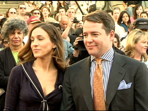 sarah jessica parker and matthew broderick at the dedication of matthew broderick and nathan lane's double star on the hollywood walk of fame at... - matthew broderick stock videos & royalty-free footage