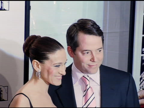 sarah jessica parker and matthew broderick at the new york premiere of 'the producers' at the ziegfeld theatre in new york new york on december 4 2005 - matthew broderick stock videos & royalty-free footage
