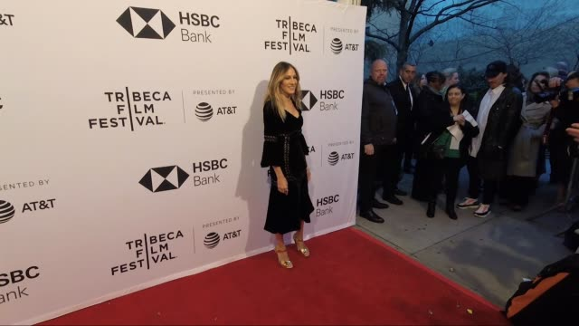 stockvideo's en b-roll-footage met sarah jessica parker at blue night 2018 tribeca film festival at sva theatre on april 19 2018 in new york city - sarah jessica parker