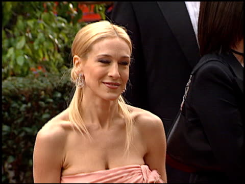 stockvideo's en b-roll-footage met sarah jessica parker at the 2001 golden globe awards at the beverly hilton in beverly hills california on january 21 2001 - sarah jessica parker