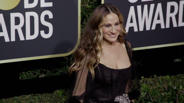 stockvideo's en b-roll-footage met sarah jessica parker at the 75th annual golden globe awards at the beverly hilton hotel on january 07 2018 in beverly hills california - sarah jessica parker