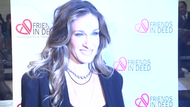 sarah jessica parker at the a little jurassic treasure hunt - a 20th anniversary benefit celebrating 'friends in deed' at new york ny. - treasure hunt stock videos & royalty-free footage