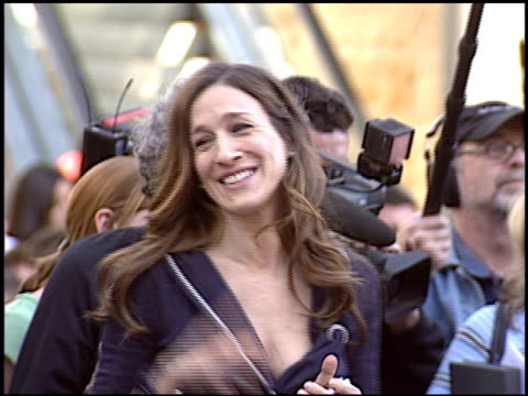 sarah jessica parker at the dediction of matthew broderick and nathan lane's walk of fame star at the hollywood walk of fame in hollywood, california... - nathan lane stock videos & royalty-free footage
