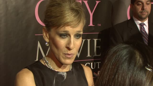 sarah jessica parker at the dvd launch party for sex and the city the movie extended cut at new york ny - sarah parker stock videos & royalty-free footage