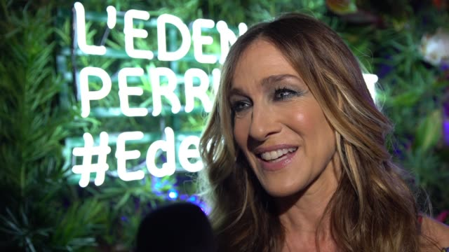 INTERVIEW Sarah Jessica Parker at the L'Eden By PerrierJouet Opening Night In Partnership With Vanity Fair at Casa Claridge's on November 29 2016 in...