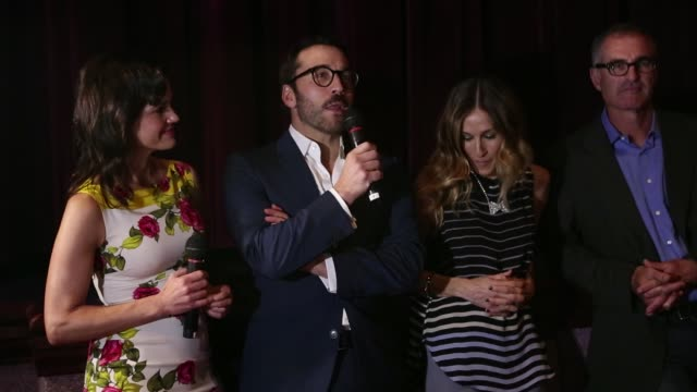 sarah jessica parker, carla gugino, jeremy piven, and david frankel attend a private screening of 'miami rhapsody'. sarah jessica parker, carla... - jeremy piven stock videos & royalty-free footage