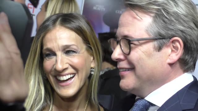 sarah jessica parker matthew broderick at audi celebrates opening night of 'rules don't apply' at afi fest 2016 on november 10 2016 in hollywood... - matthew broderick stock videos & royalty-free footage