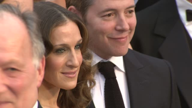sarah jessica parker matthew broderick at the 81st academy awards arrivals part 6 at los angeles ca - sarah parker stock videos & royalty-free footage