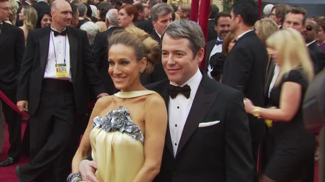 sarah jessica parker matthew broderick at the 82nd annual academy awards arrivals at hollywood ca - matthew broderick stock videos & royalty-free footage
