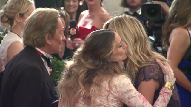 sarah jessica parker valentino and heidi klum at schiaparelli and prada impossible conversations costume institute gala at metropolitan museum of art... - heidi klum stock videos and b-roll footage