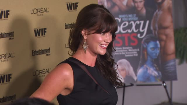 sarah lancaster at the entertainment weekly and women in film pre-emmy party at west hollywood ca. - pre emmy party stock videos & royalty-free footage