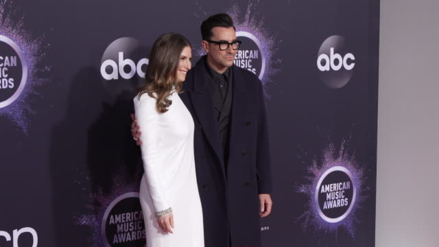 sarah levy and dan levy at the 2019 american music awards at microsoft theater on november 24 2019 in los angeles california - american music awards stock videos & royalty-free footage