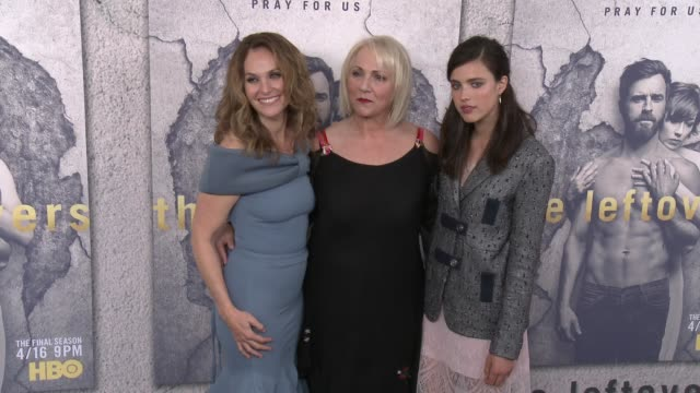 Sarah Margaret Qualley Amy Brenneman and Mimi Leder at the Premiere Of HBO's 'The Leftovers' Season 3 at Avalon Hollywood on April 04 2017 in Los...