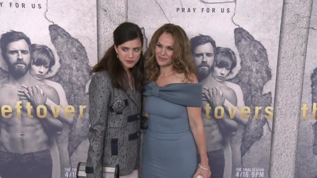 Sarah Margaret Qualley and Amy Brenneman at the Premiere Of HBO's 'The Leftovers' Season 3 at Avalon Hollywood on April 04 2017 in Los Angeles...