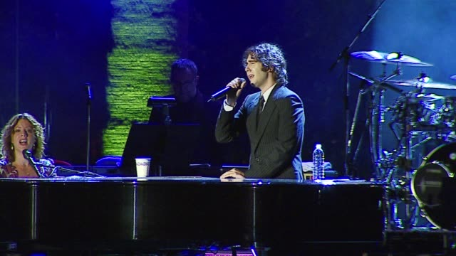 sarah mclachlan and josh groban perform at the bmg us president charles goldstuck honored at the city of hope's spirit of life award gala at pacific... - josh charles stock videos and b-roll footage