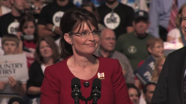 Sarah Palin 2008 Campaign trail at Franklin Marshall College Field House on September 09 2008 in Lancaster Pennsylvania