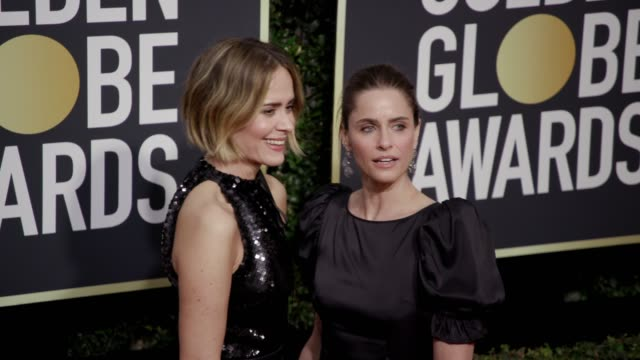Sarah Paulson and Amanda Peet at the 75th Annual Golden Globe Awards at The Beverly Hilton Hotel on January 07 2018 in Beverly Hills California