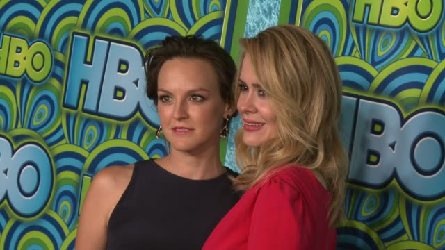 sarah paulson and carla gallo at hbo's post 65th primetime emmy awards reception in los angeles ca on 9/22/13 - sarah paulson stock videos and b-roll footage