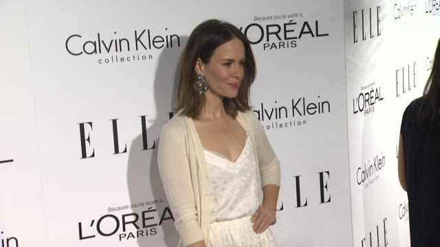 sarah paulson at 19th annual elle women in hollywood celebration on in beverly hills ca - sarah paulson stock videos and b-roll footage