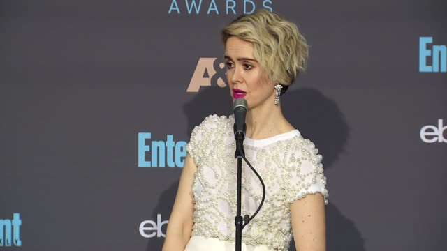 interview sarah paulson at 22nd annual critics' choice awards in los angeles ca - sarah paulson stock videos and b-roll footage