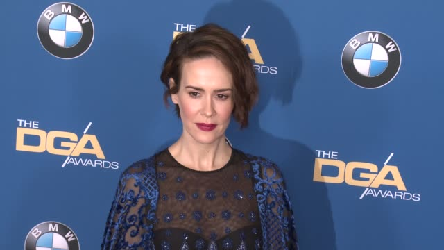 sarah paulson at 69th annual directors guild of america awards in los angeles, ca 2/4/17 - director's guild of america stock videos & royalty-free footage