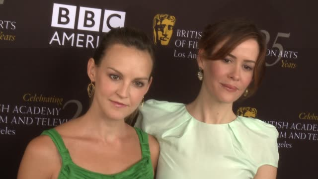 sarah paulson at bafta la tv tea 2012 presented by bbc america on 9/22/2012 in west hollywood ca - sarah paulson stock videos and b-roll footage