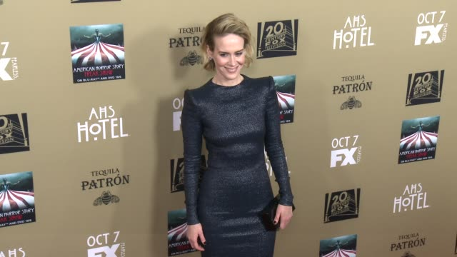 sarah paulson at fx's american horror story hotel los angeles premiere at regal cinemas la live on october 03 2015 in los angeles california - sarah paulson stock videos and b-roll footage