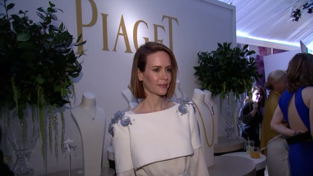 sarah paulson at piaget at the 2014 film independent spirit awards on february 01 2014 in santa monica california - sarah paulson stock videos and b-roll footage