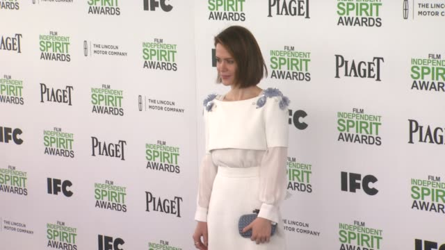 sarah paulson at the 2014 film independent spirit awards arrivals on march 01 2014 in santa monica california - sarah paulson stock videos and b-roll footage