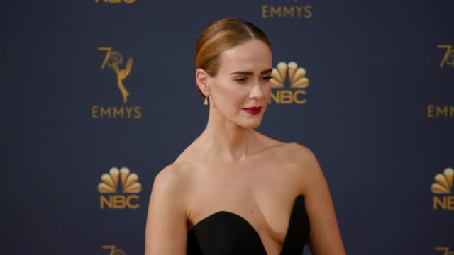 Sarah Paulson at the 70th Emmy Awards Arrivals at Microsoft Theater on September 17 2018 in Los Angeles California