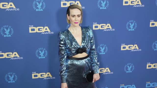 sarah paulson at the 71st annual dga awards at the ray dolby ballroom at hollywood highland center on february 02 2019 in hollywood california - director's guild of america stock videos & royalty-free footage