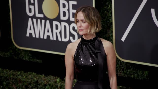 Sarah Paulson at the 75th Annual Golden Globe Awards at The Beverly Hilton Hotel on January 07 2018 in Beverly Hills California